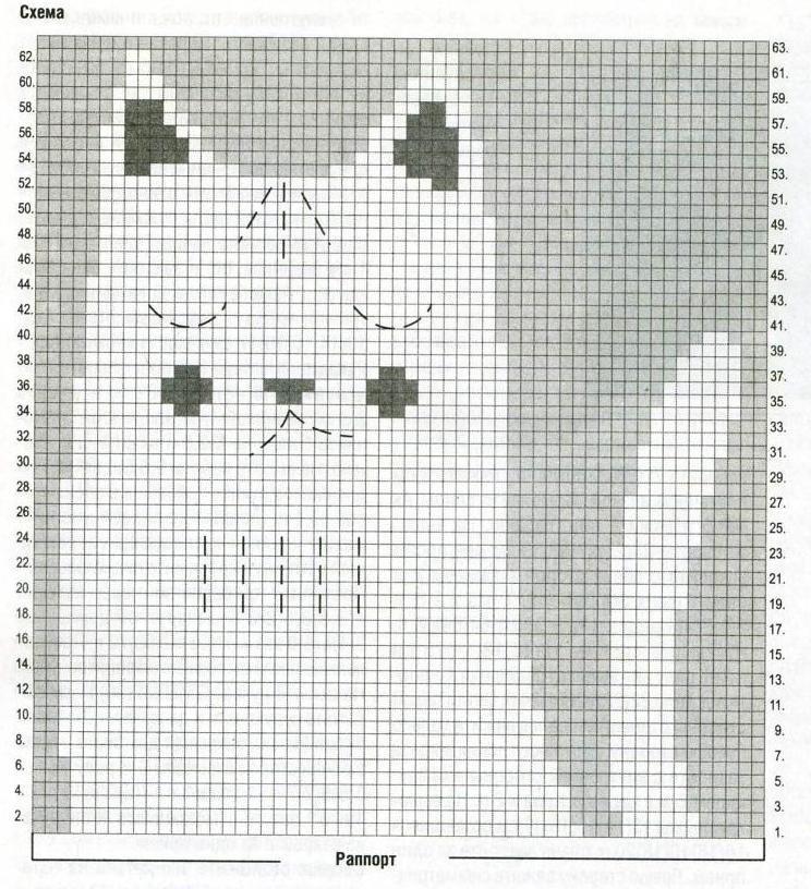 Свитер для мальчика с рисунком схемы