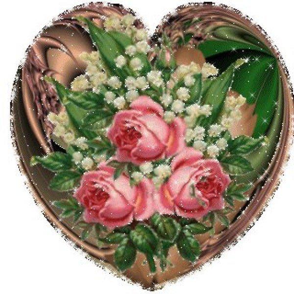 Конец осени, картинки анимации сердечки и цветы
