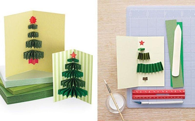 Как сделать на новый год открытку поэтапно