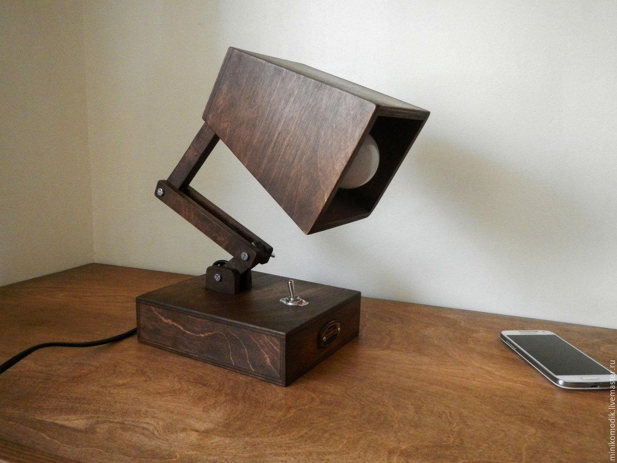 настольная лампа из дерева своими руками картинки школьником будешь первый