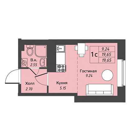 Продажа однокомнатных квартир и комнат, станция метро Рыбацкое
