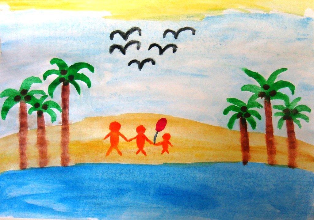 Комплиментами, рисунок лето 5 класс