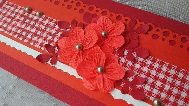 Смешные, сделать гофрированные цветы на открытку