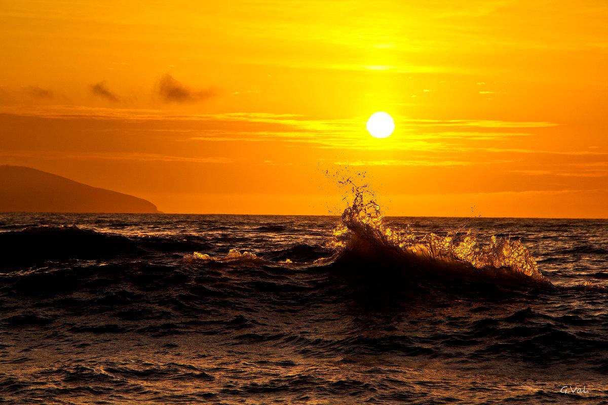 Картинка с рассветом на море, открытка