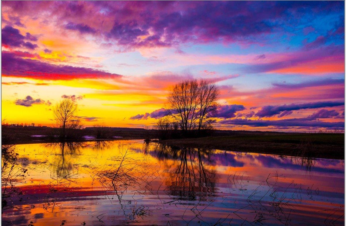 Весенний рассвет картинки