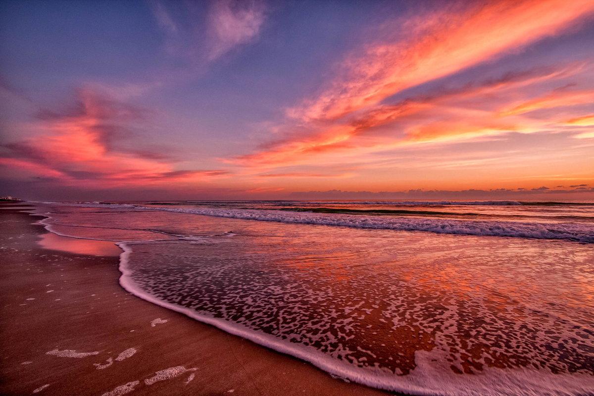 Океан на рассвете картинки