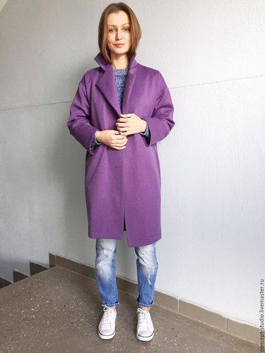 b94ff019ad7 Демисезонное пальто фиолетовое - купить в интернет-магазине ...