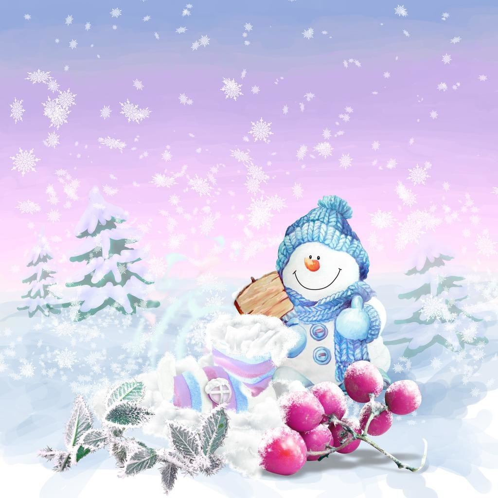 Фон для детской открытки с новым годом, для открыток