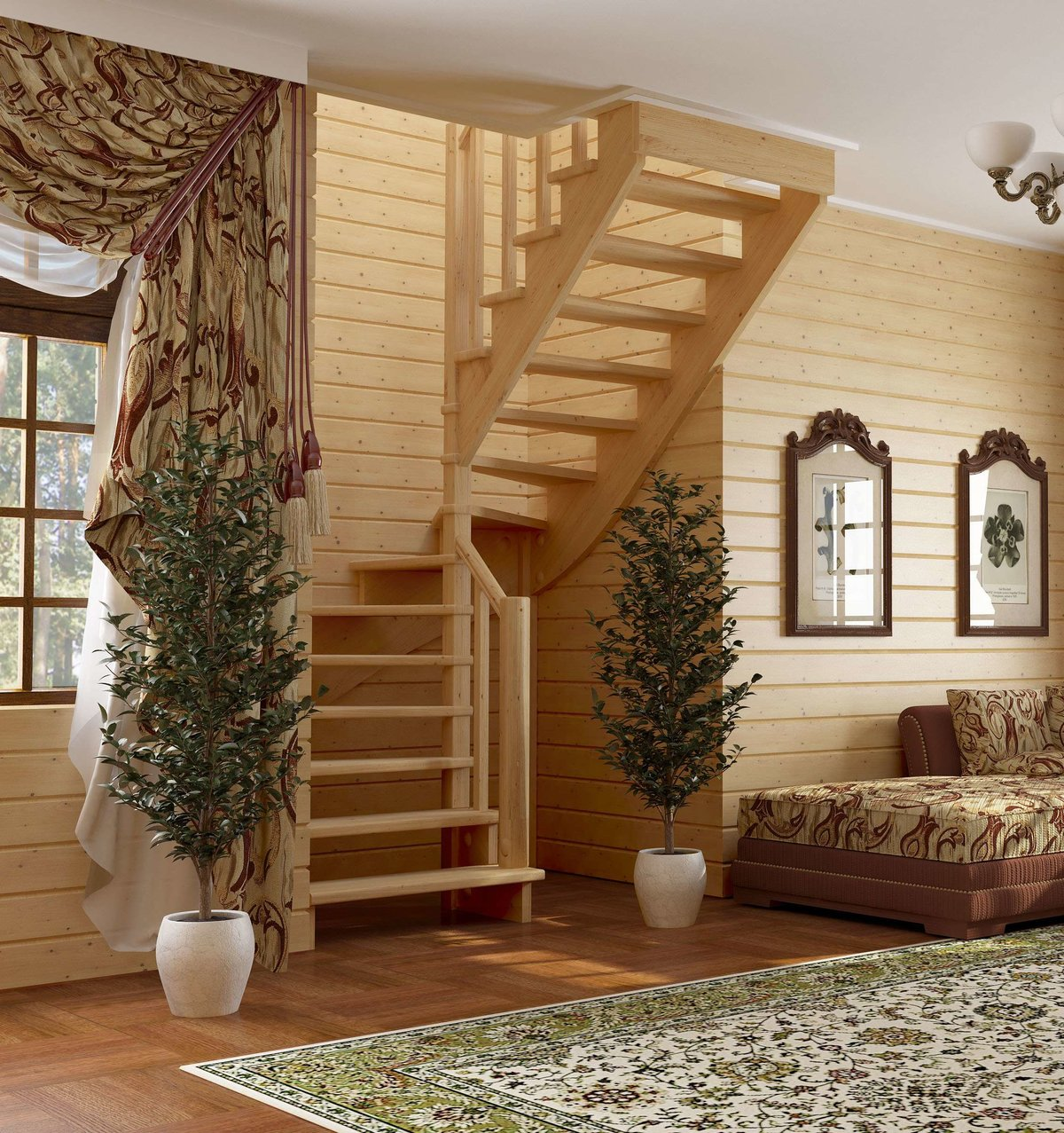 Отделка деревянного дома внутри фото второй этаж познавательная