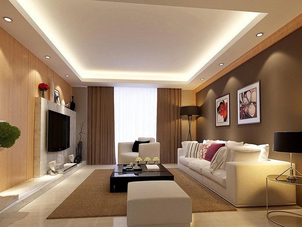 дизайн потолков из гипсокартона фото для зала очень увеличился