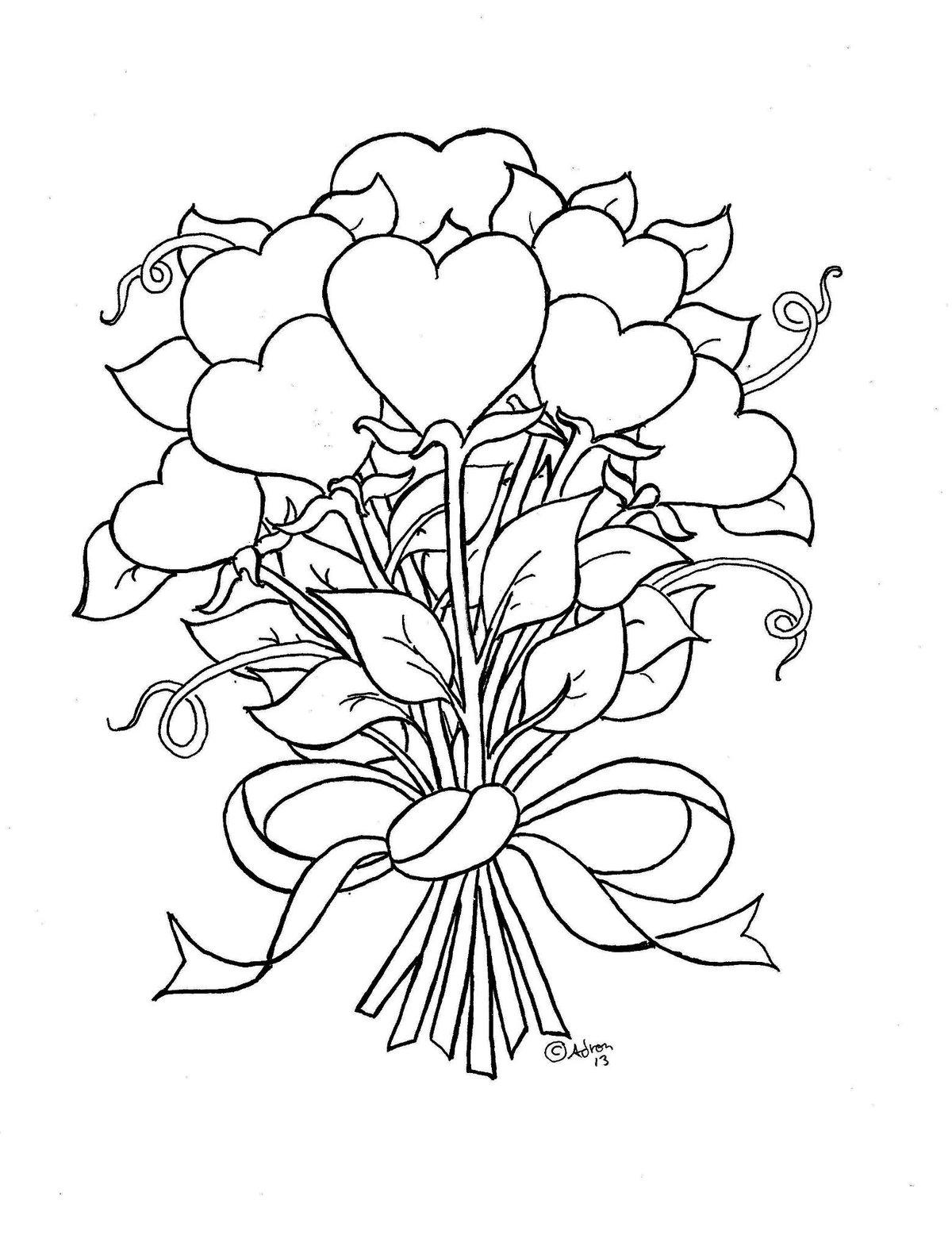 Нарисовать цветок на открытку