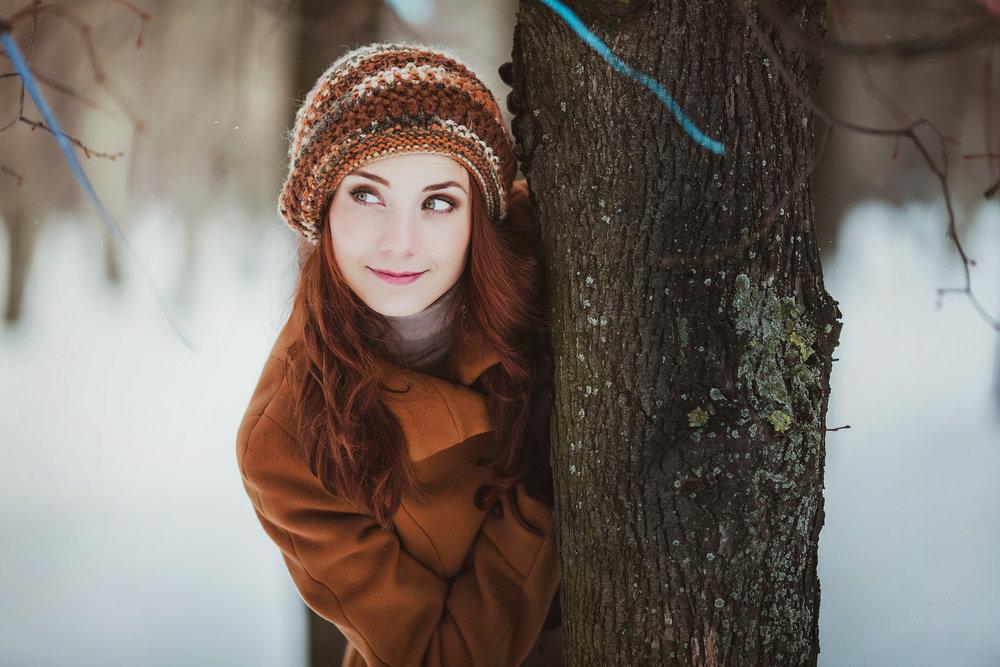 качестве места идеи для фотосессии на природе зимой яркая красивая