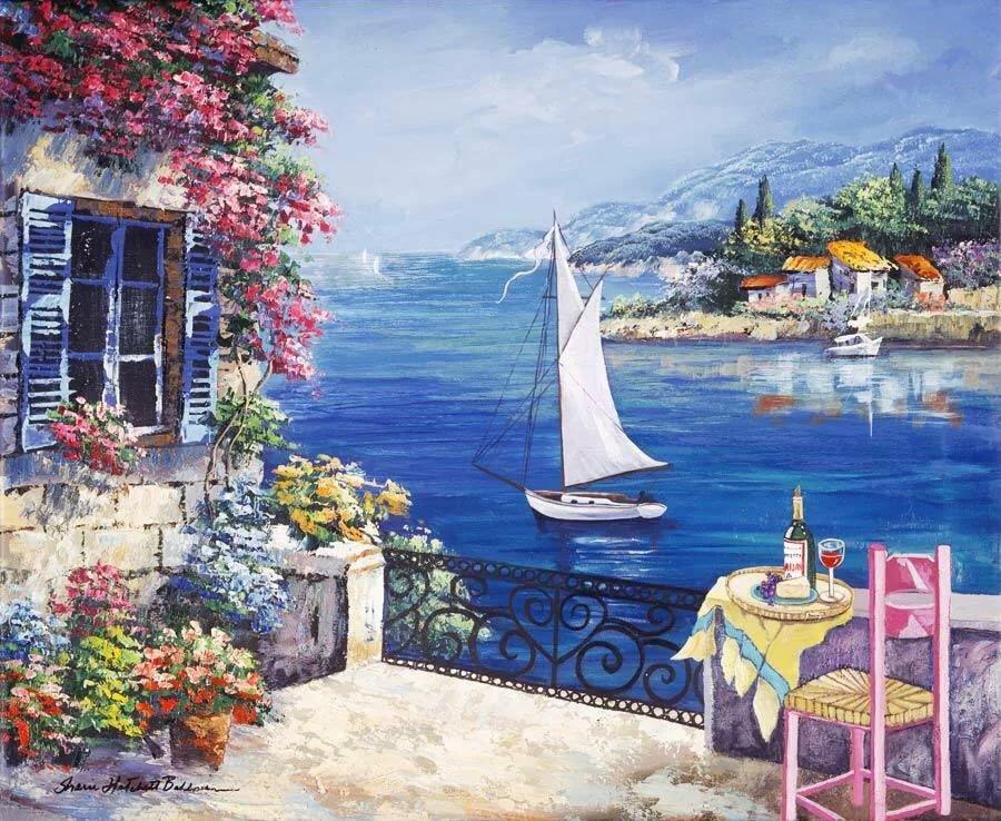 Сделать маме, красивые греческие открытки