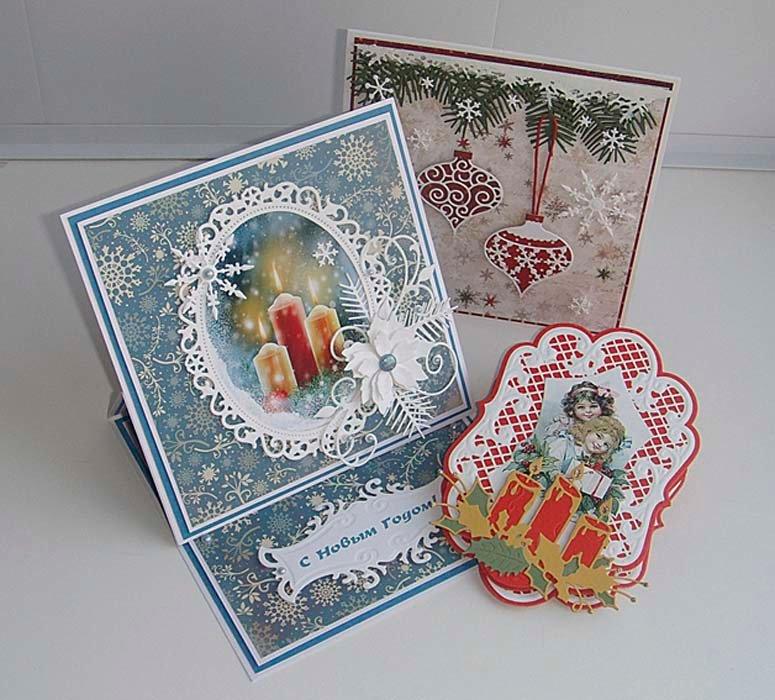 Скрапбукинг новогодние и рождественские открытки своими руками, 2017 открытки открытка
