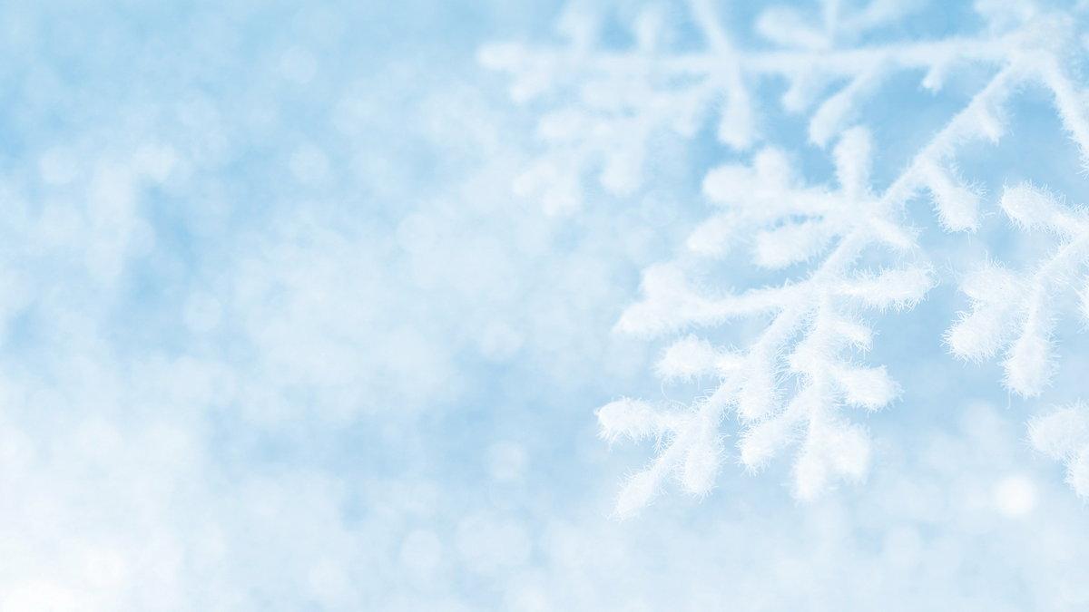 Снежинки картинка голубой фон