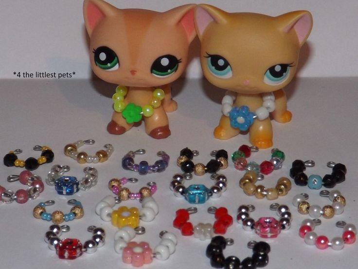 Littlest Pet Shop Accessories Clothes 3pc Random Collars Lps Cat