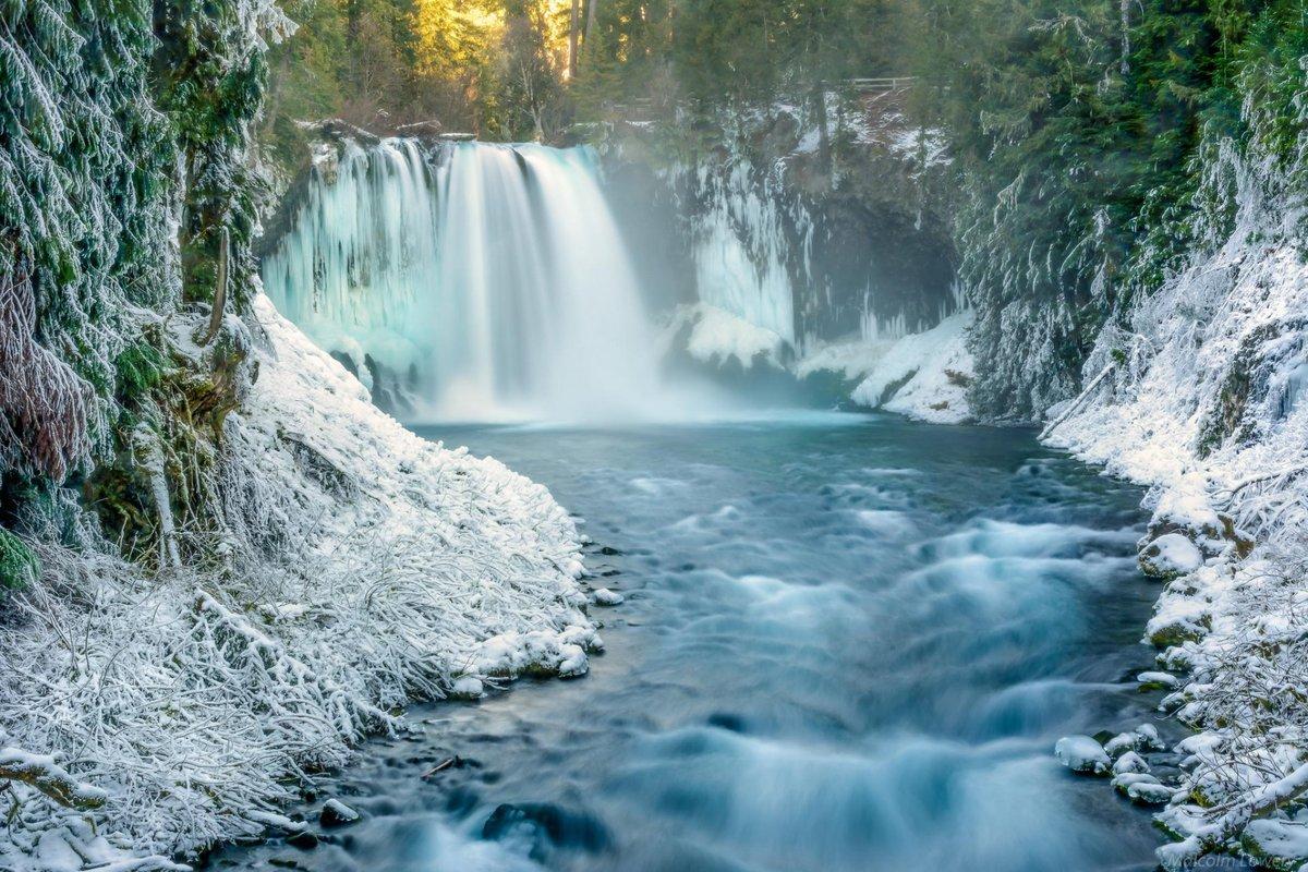 фото зимних водопадов галки