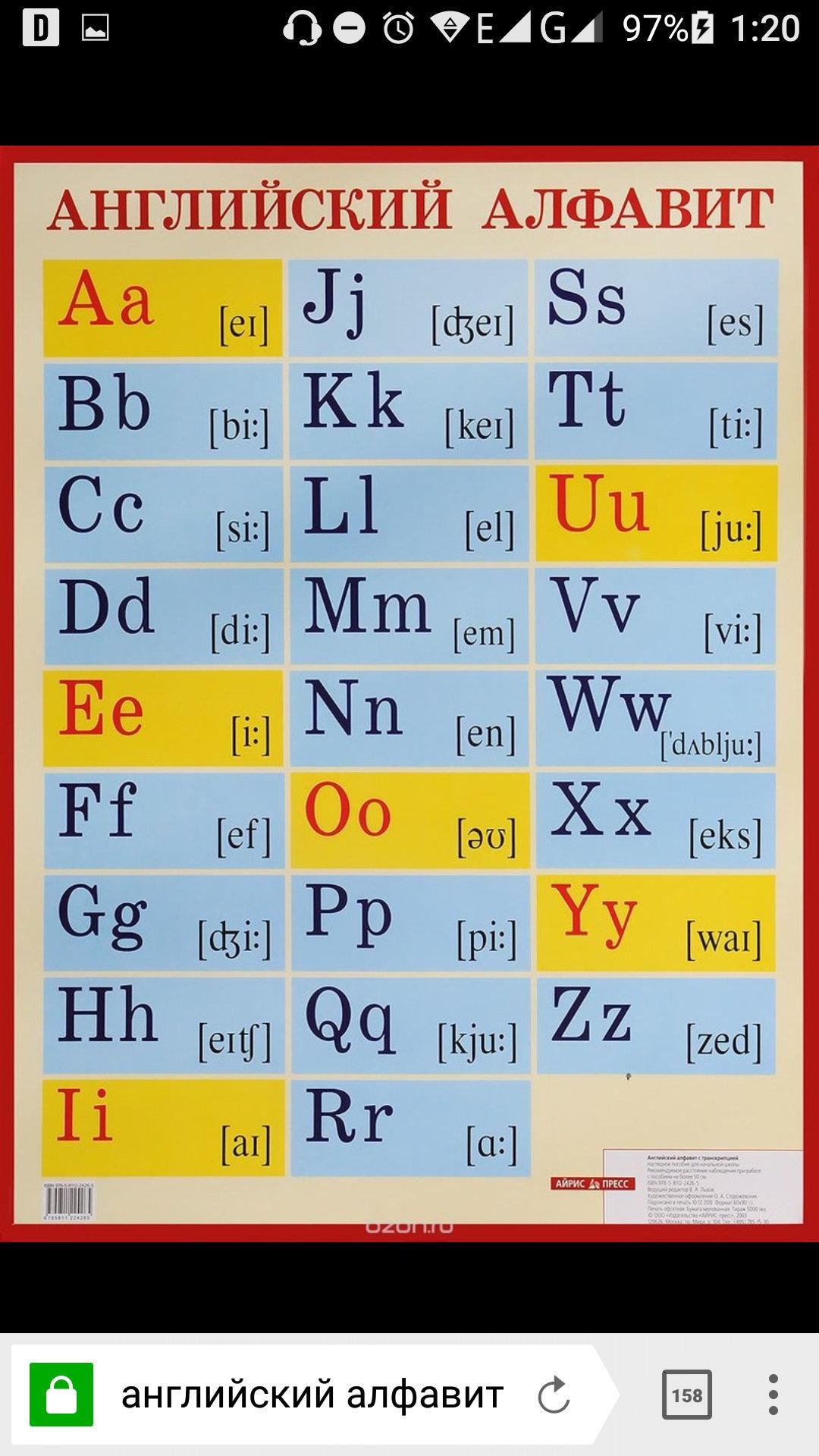 английский алфавит фото по порядку качестве картинки