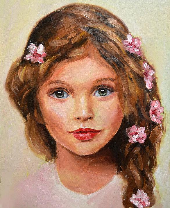 Картинка личико девочки