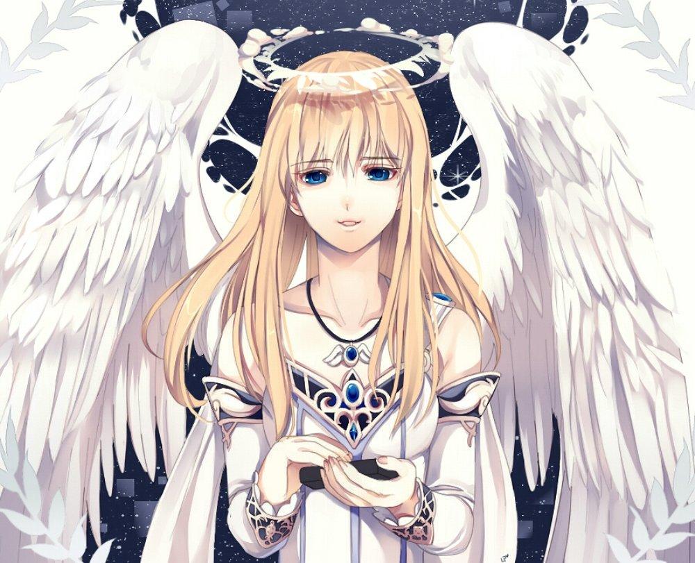 Любимым дочкам, картинки с аниме девочками ангелами
