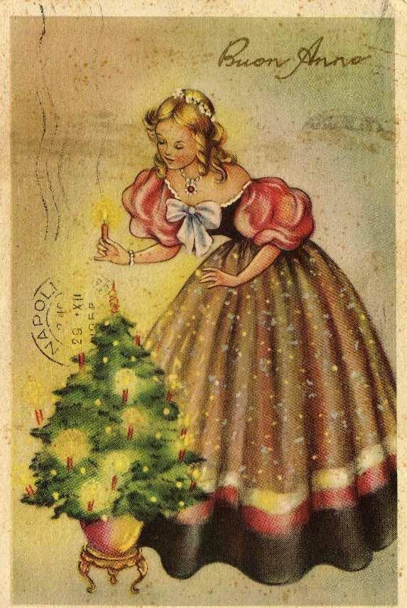 Картинки ретро открыток новогодних