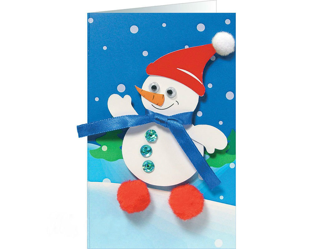 Новогодние открытки поделки дети