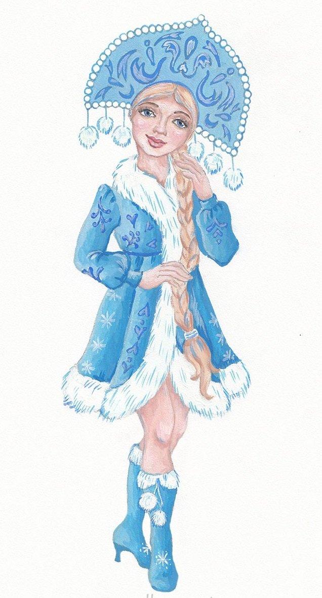 Картинки снегурочки прикольные для срисовки