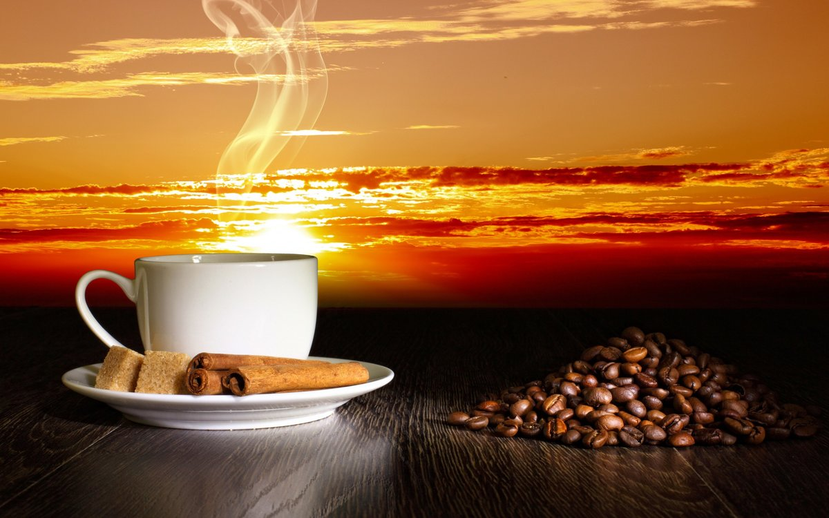 Картинки кофе утром на рассвете