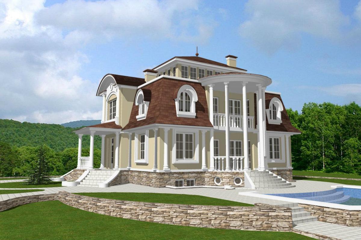 красивый проект дома с фото и описанием поместим работу текстуру