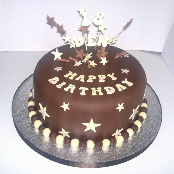 Men Birthday Cake Ideas With Star And Number Topper Boy