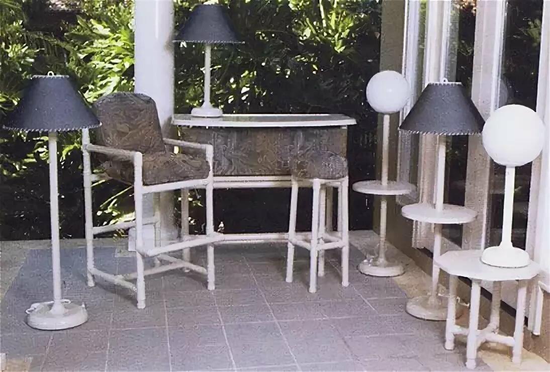 Столы из пластиковых труб фото