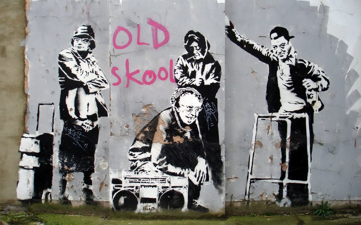 a visual analysis of the graffiti artwork done by banksy In all likelihood, banksy is a street art graffiti artist from bristol, england philanthropist, anti-war and revolutionary, the artist uses his banksy insists stubbornly on remaining anonymous, as the graffiti's spirit that involves creating artworks in the purest secret his art is a mixture of irony, irreverence.