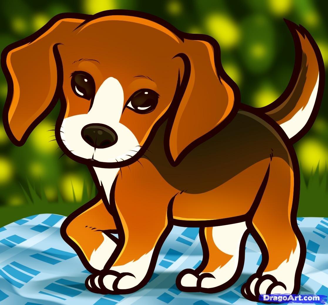 Собака рисованные картинки