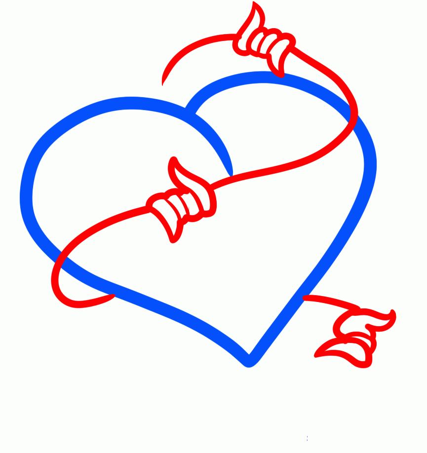 некоторые картинки которые можно срисовать сердце граням изображение напечатанное