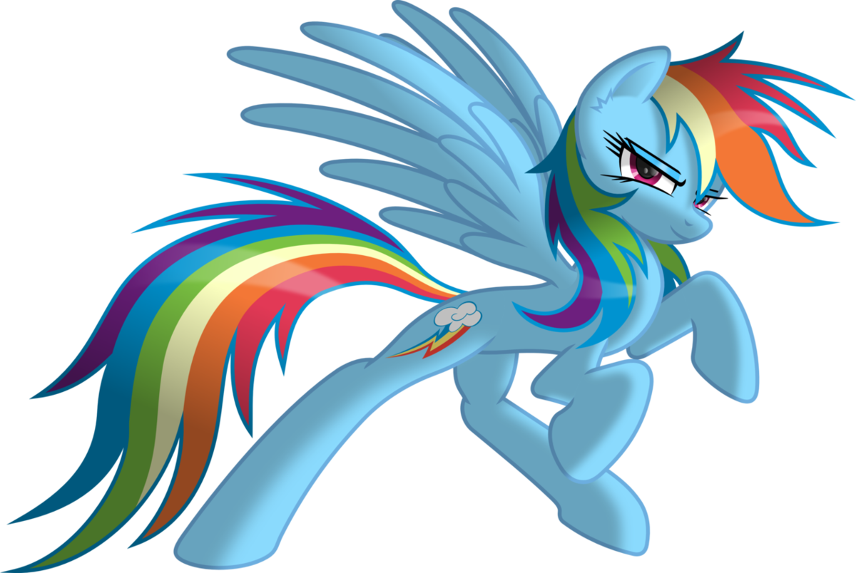 примеру, фото рейнбоу дэш пони любимой цветовой гамме