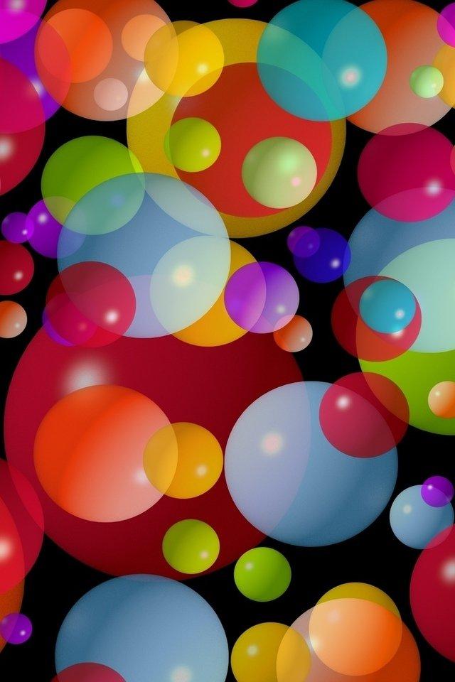 Сделать красивые, картинки с кругами и шарами