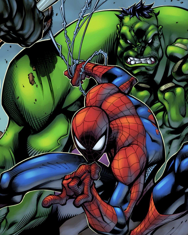 Самой, открытки с человеком пауком и халком