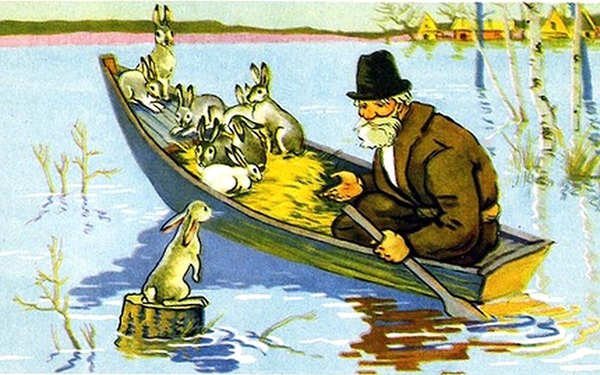 Дедушка мазай и зайцы некрасов картинки