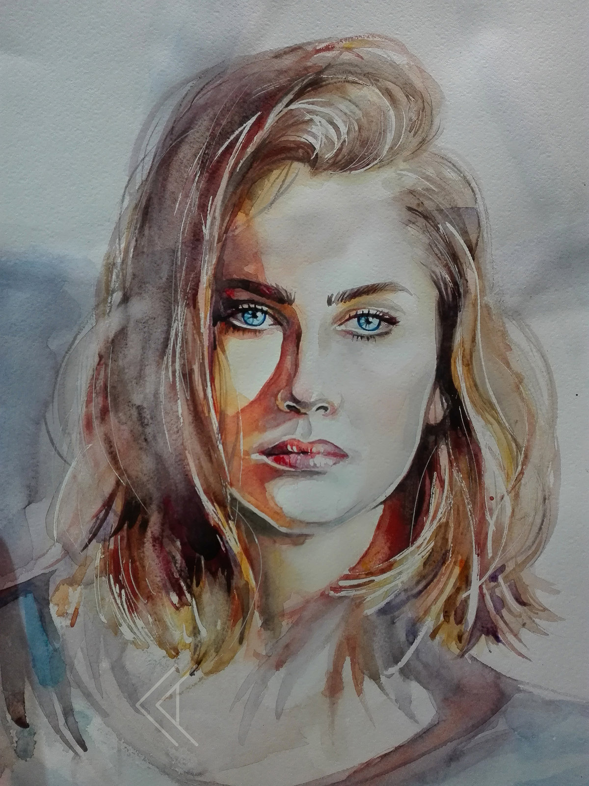 Акварель портреты картинки