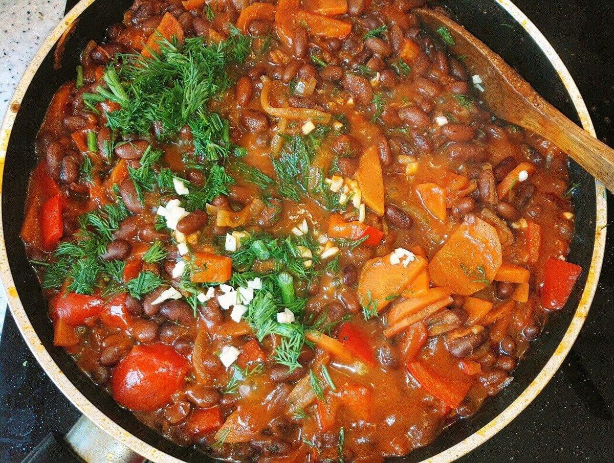 Вкусный рецепт фасоли в томате