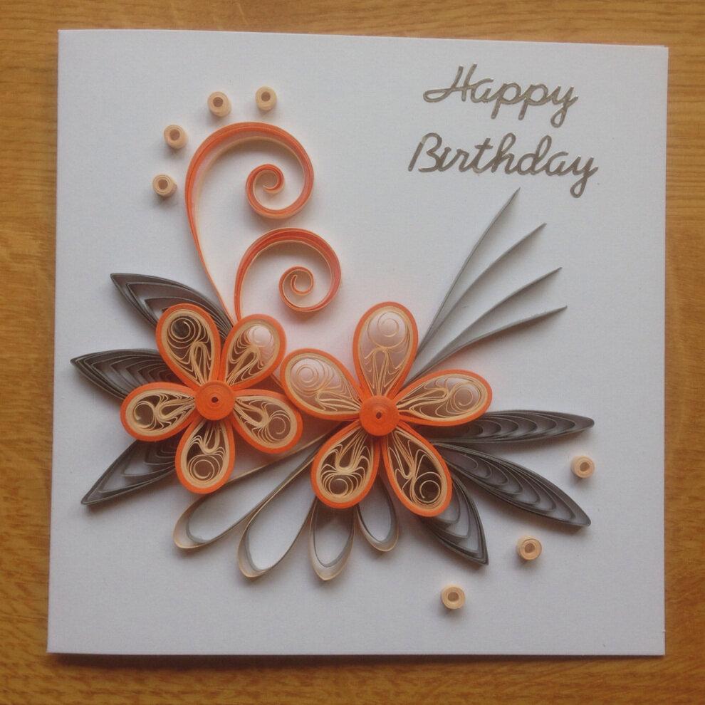 Для, поздравительные открытки с квиллинга