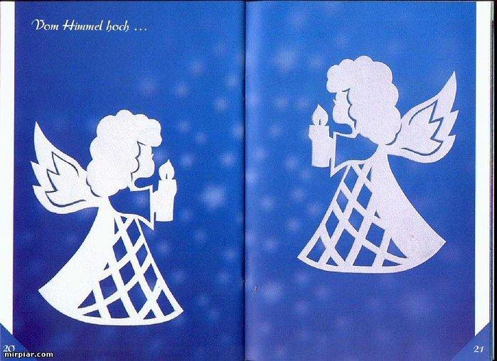 Картинки, открытка с ангелом своими руками к рождеству