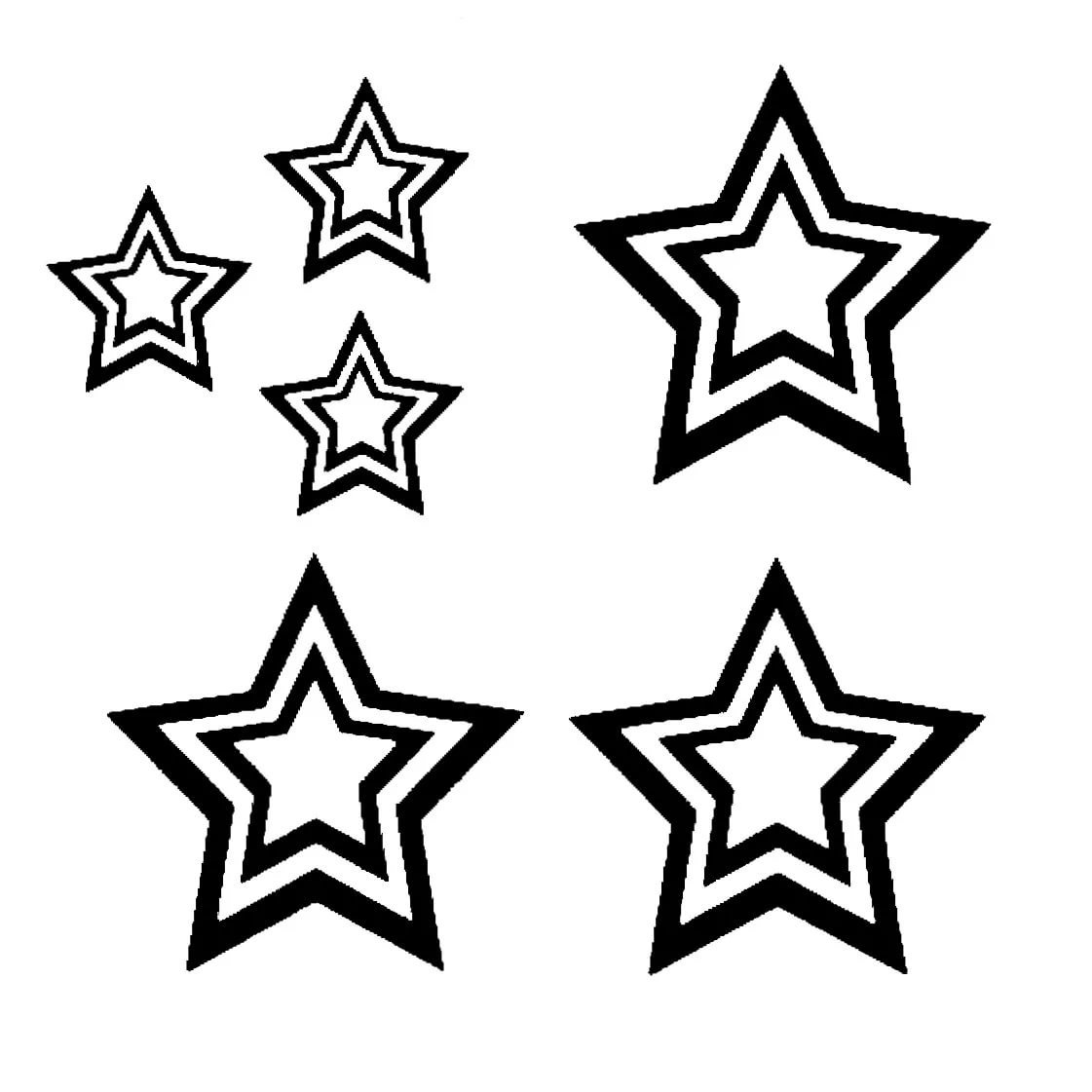 Картинки звездочек для вырезания