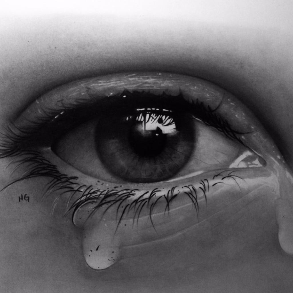 Плачущий глаза картинки
