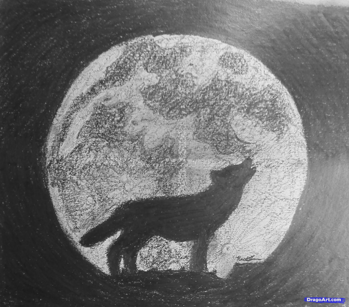 Drawing moon with pencil drawn moon pencil drawing pencil and in color drawn moon pencil