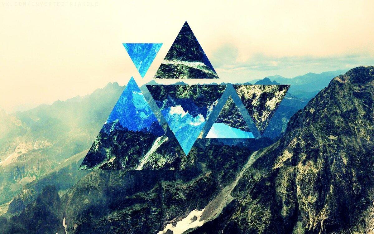 Картинка с треугольником, звериным оскалом