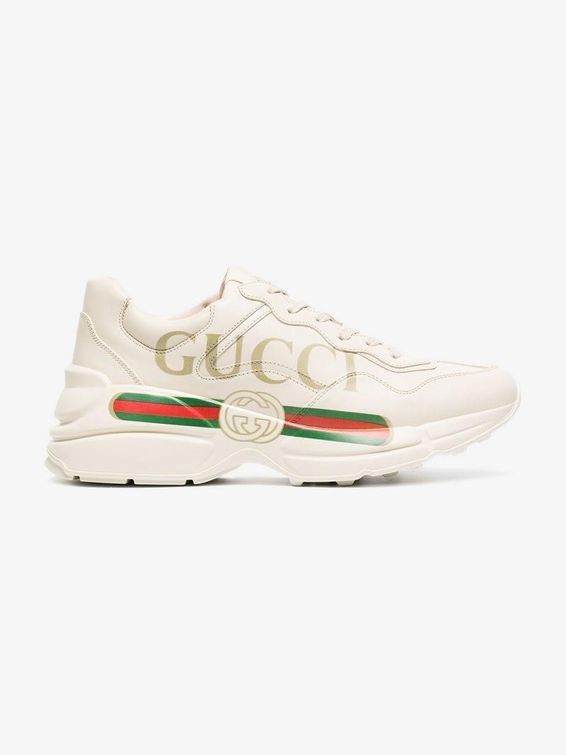 eb0829a855df Кроссовки Rhyton Gucci logo leather sneaker. Кроссовки уже в продаже Купить  со скидкой -50