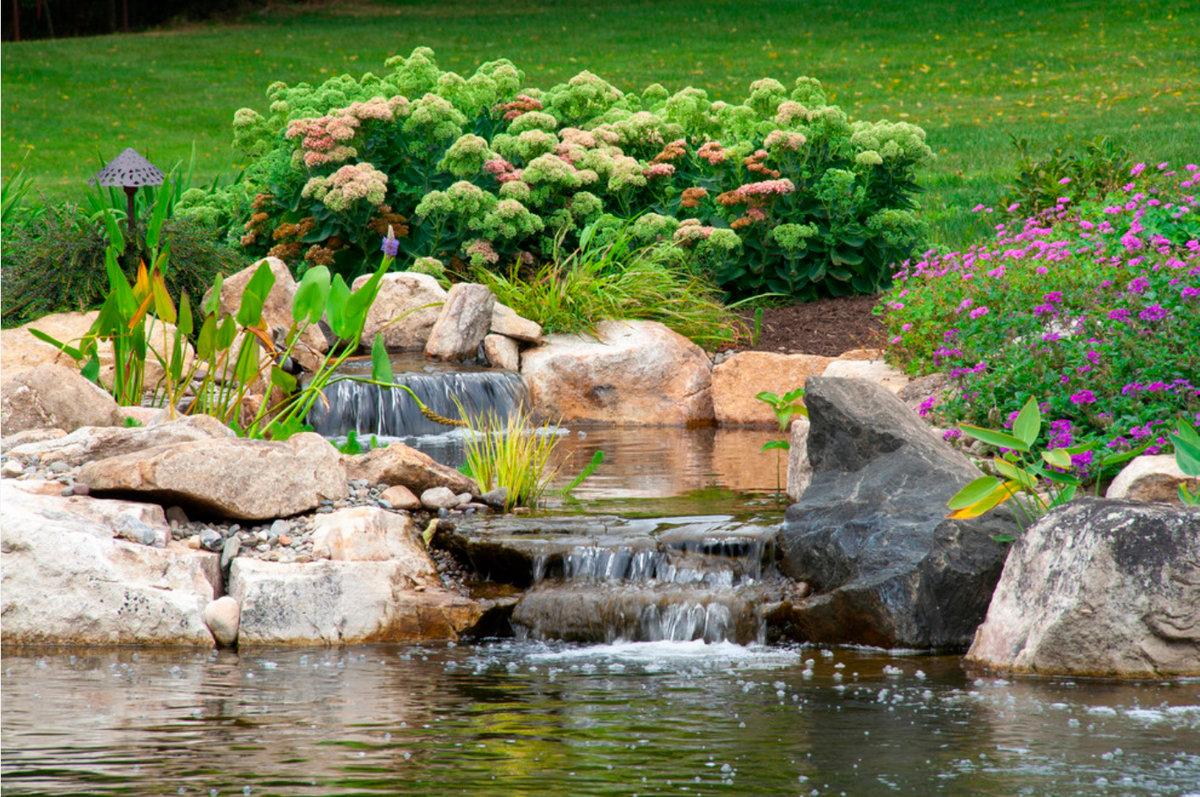 нас свой фото садового водопада компании каждый