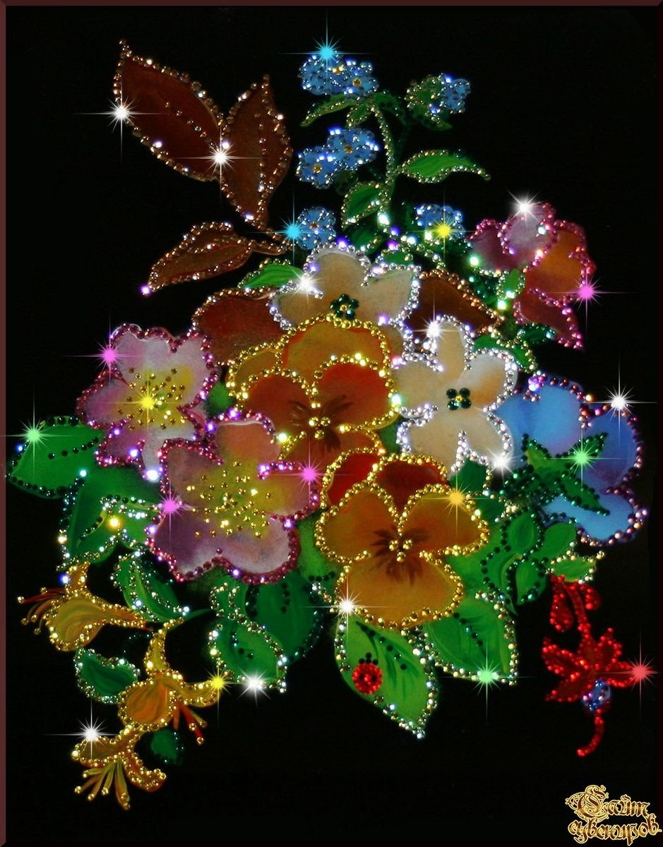 Открытки анимации цветов