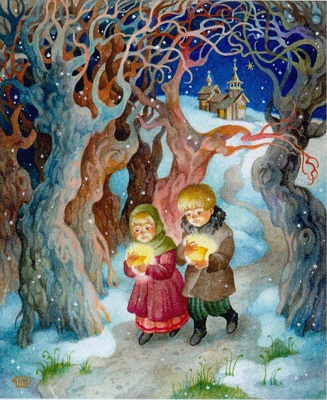 Рождественское чудо картинки рисунки